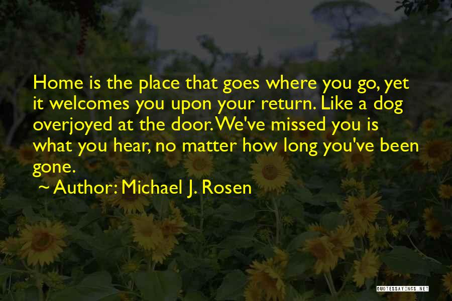 You Missed It Quotes By Michael J. Rosen