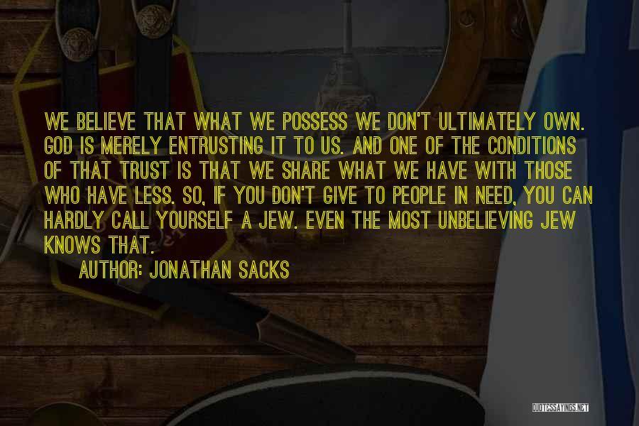 You Need God Quotes By Jonathan Sacks