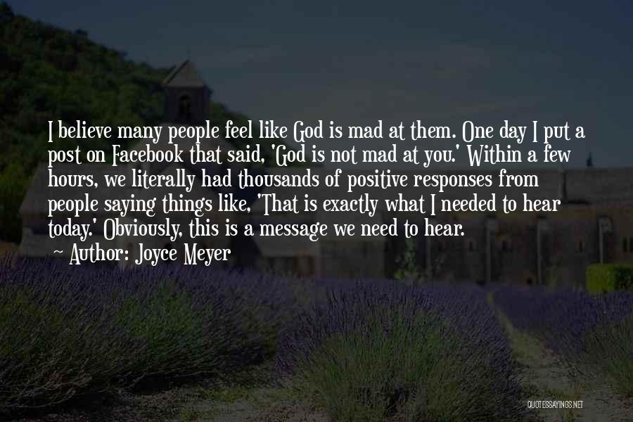 You Need God Quotes By Joyce Meyer