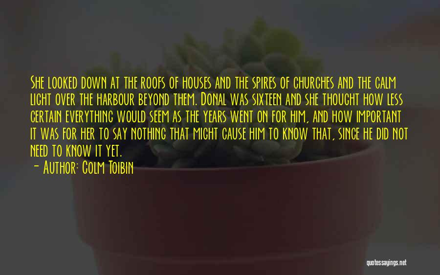 You Need To Calm Down Quotes By Colm Toibin