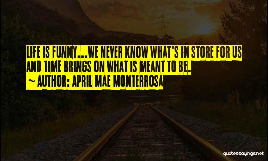 You Never Know What Life Brings Quotes By April Mae Monterrosa