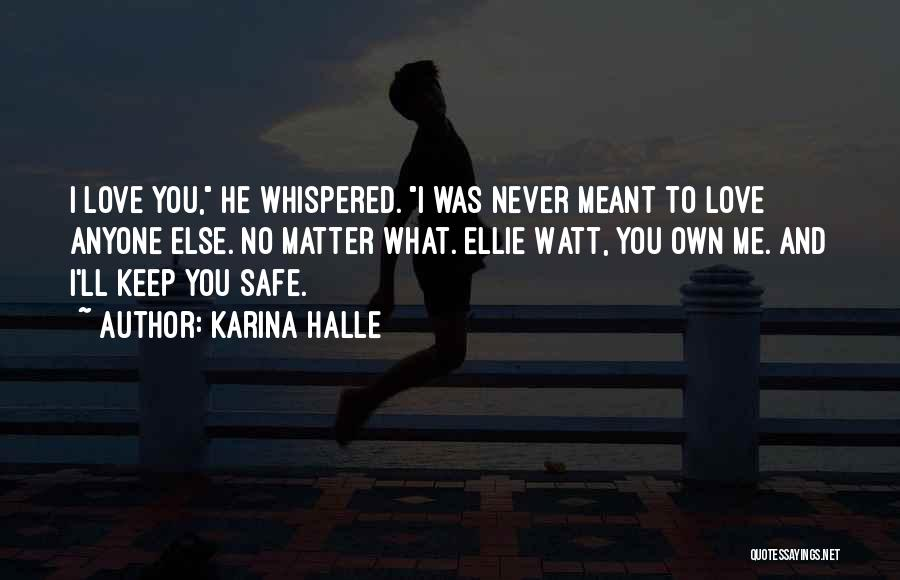 You Never Love Me Quotes By Karina Halle