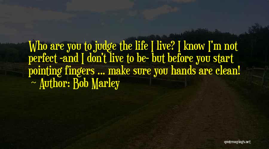 You Not Perfect Quotes By Bob Marley