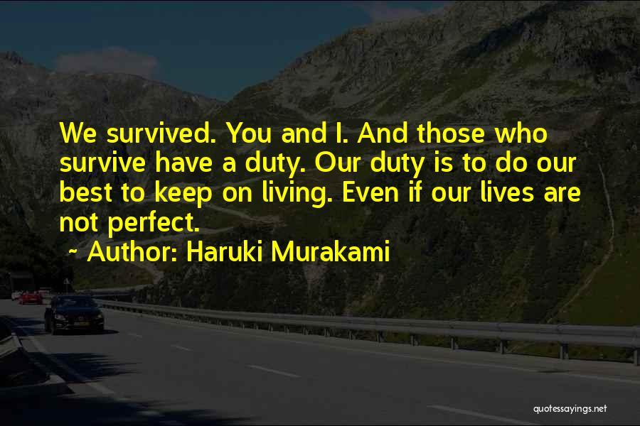 You Not Perfect Quotes By Haruki Murakami
