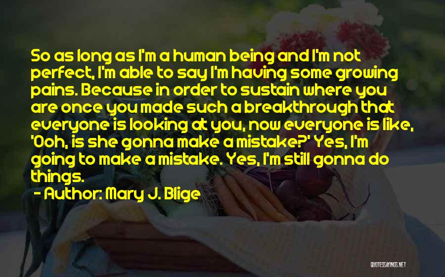 You Not Perfect Quotes By Mary J. Blige