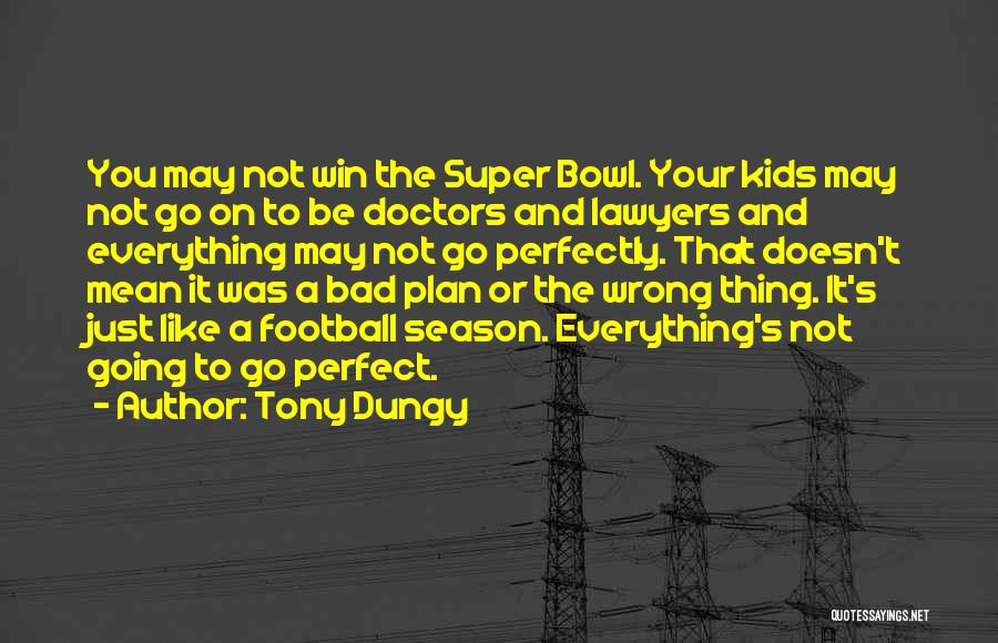 You Not Perfect Quotes By Tony Dungy