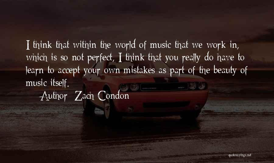 You Not Perfect Quotes By Zach Condon