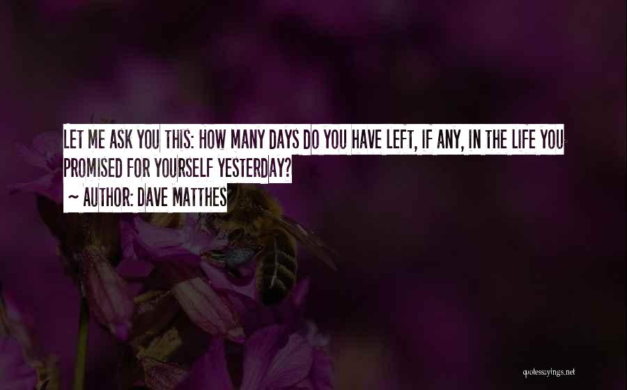 You Promised Quotes By Dave Matthes