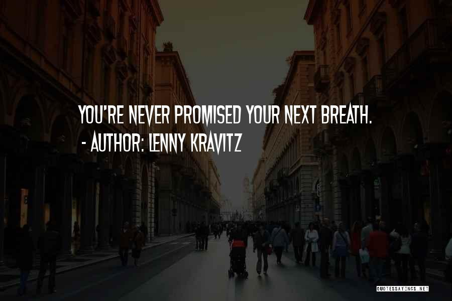 You Promised Quotes By Lenny Kravitz