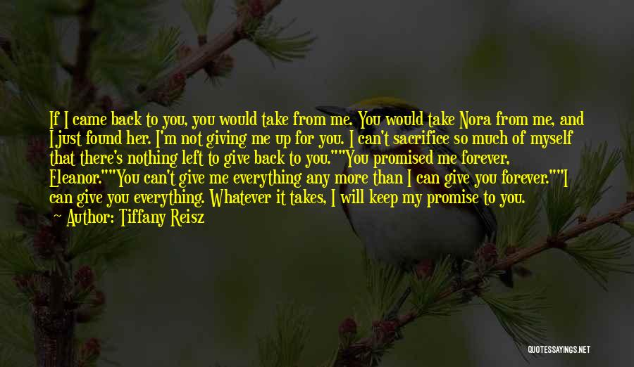 You Promised Quotes By Tiffany Reisz