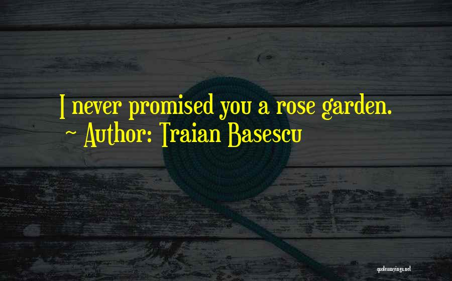 You Promised Quotes By Traian Basescu
