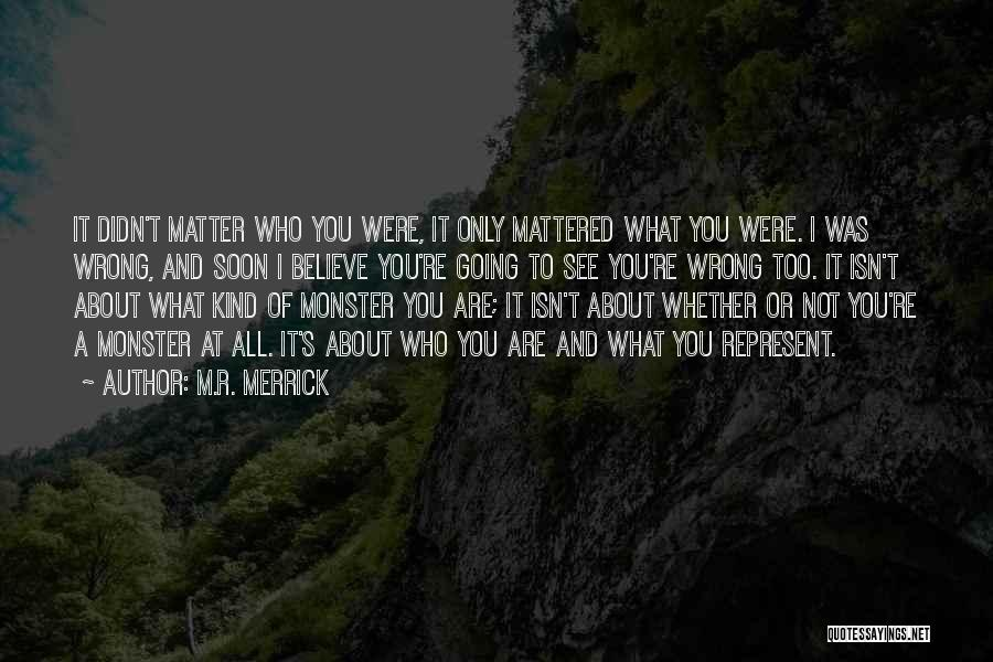 You Represent Quotes By M.R. Merrick