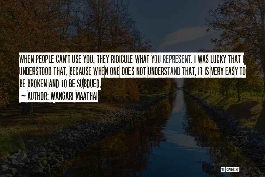 You Represent Quotes By Wangari Maathai