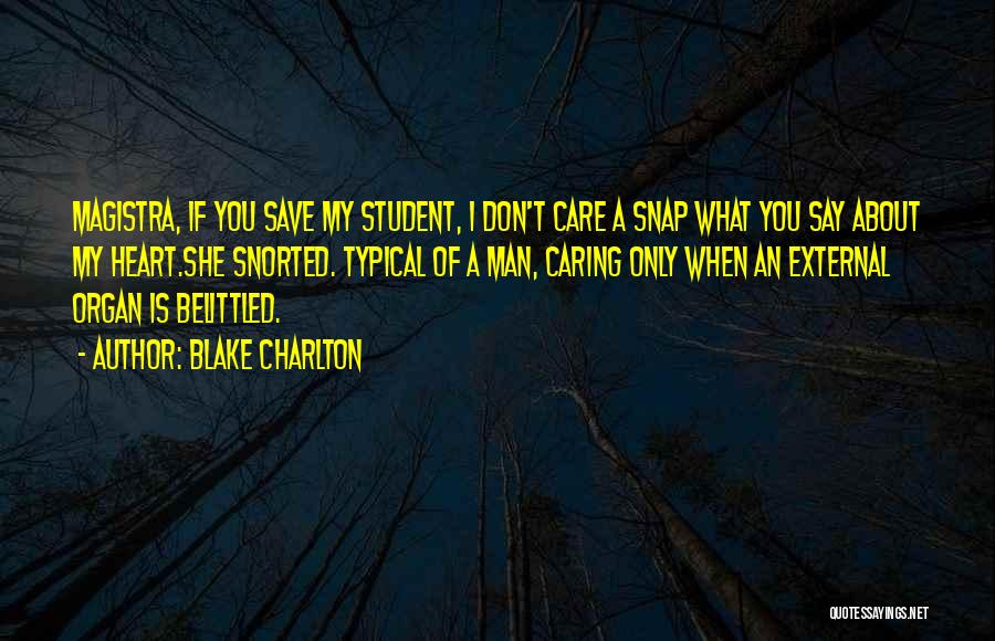 You Save My Heart Quotes By Blake Charlton