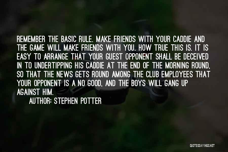 You Shall Make It Quotes By Stephen Potter