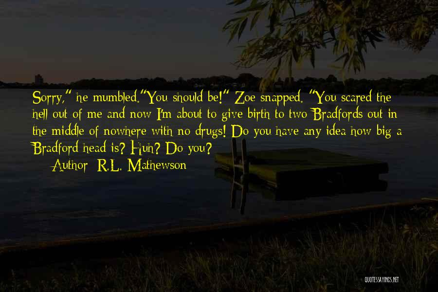 You Should Be Scared Of Me Quotes By R.L. Mathewson