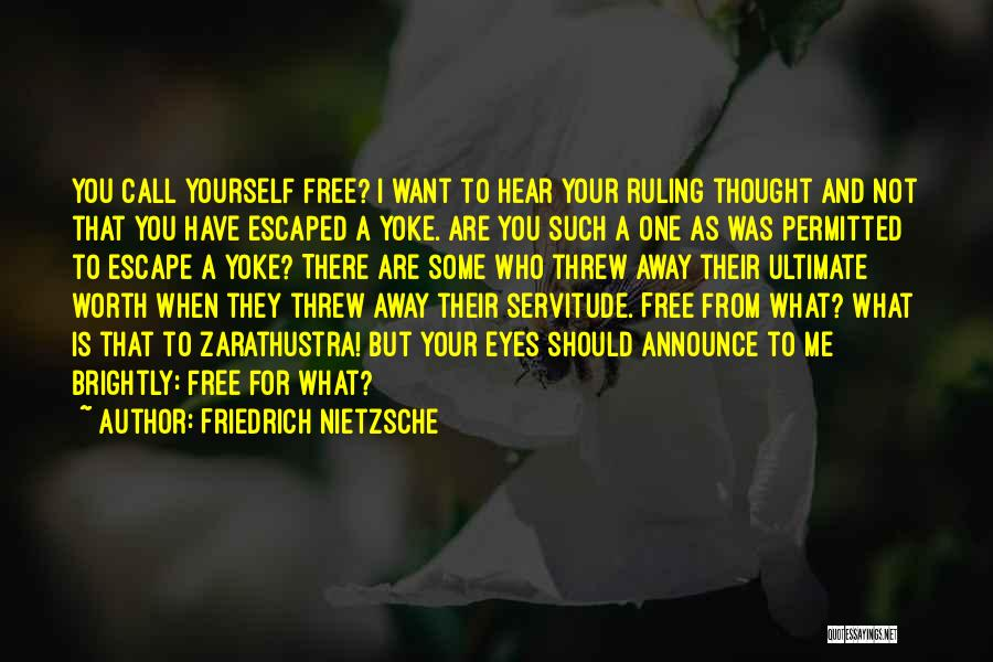You Threw Me Away Quotes By Friedrich Nietzsche