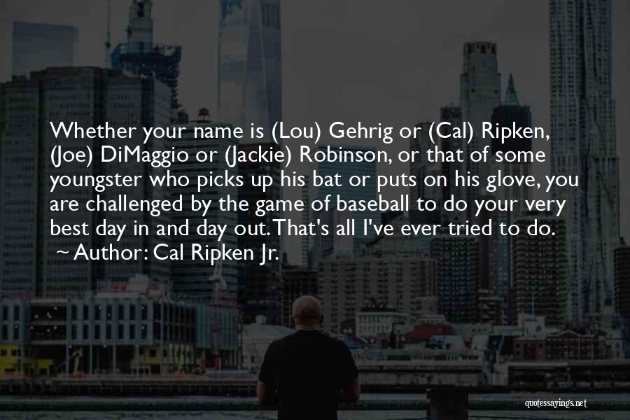You Tried Your Best Quotes By Cal Ripken Jr.
