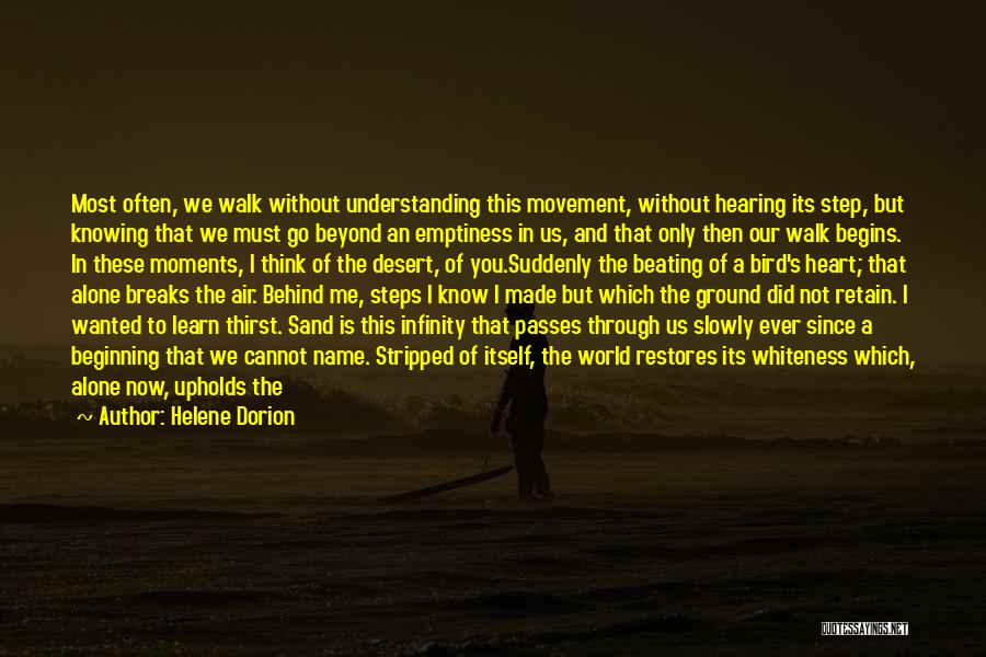 You Walk Alone Quotes By Helene Dorion