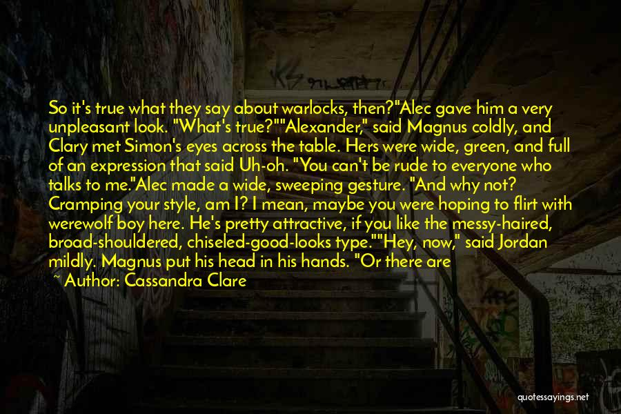 You Were Rude Quotes By Cassandra Clare