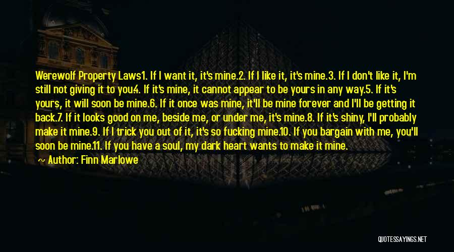 You Will Be Mine Soon Quotes By Finn Marlowe