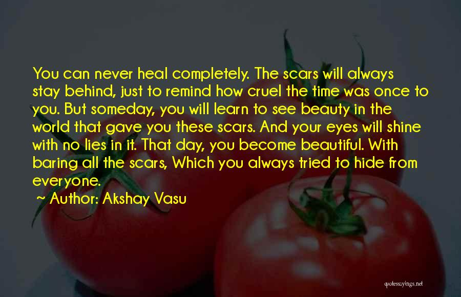 You Will Learn In Time Quotes By Akshay Vasu