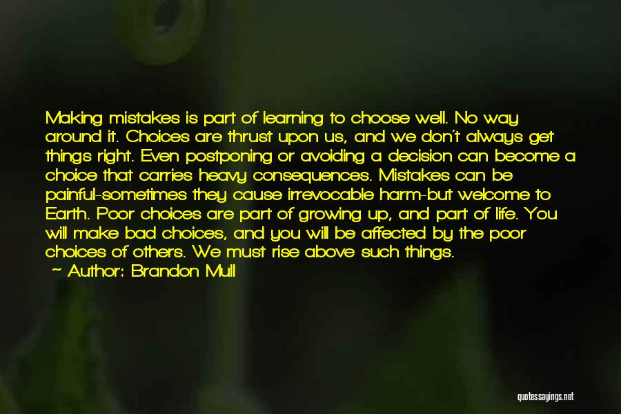 You Will Make The Right Decision Quotes By Brandon Mull