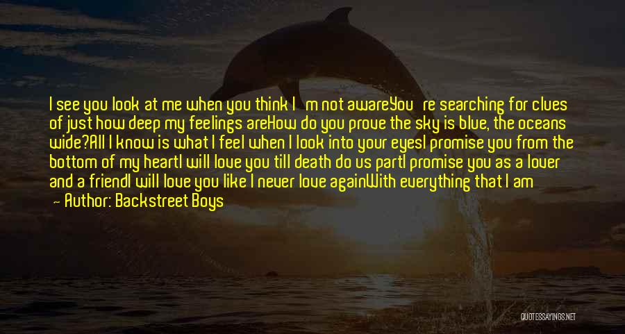 You Will Never See Me Again Quotes By Backstreet Boys