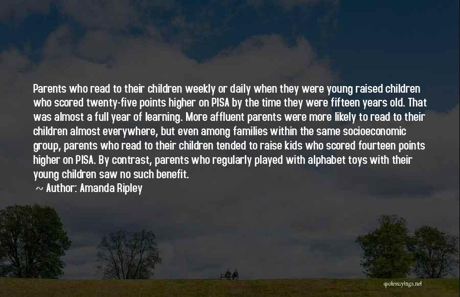 Young Children's Learning Quotes By Amanda Ripley