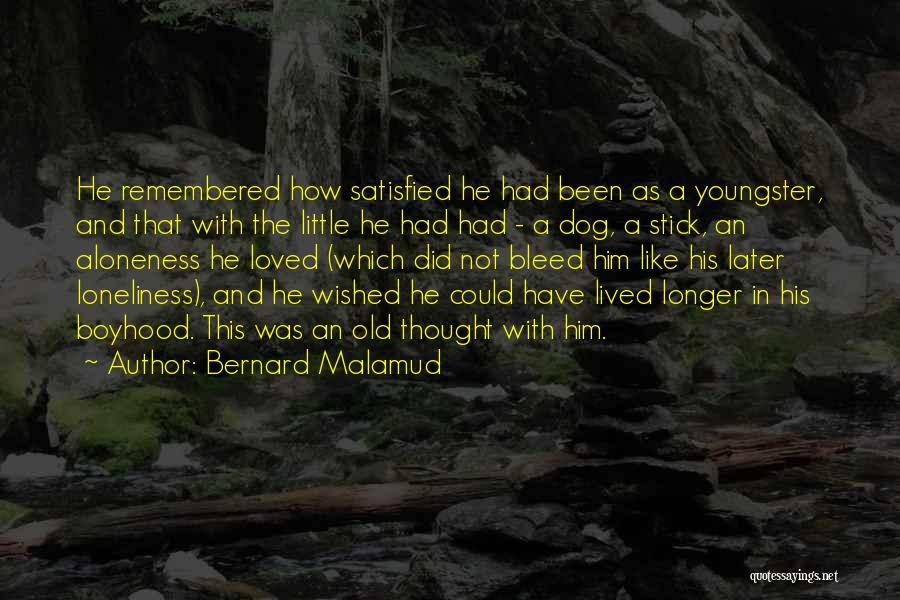 Youngster Quotes By Bernard Malamud