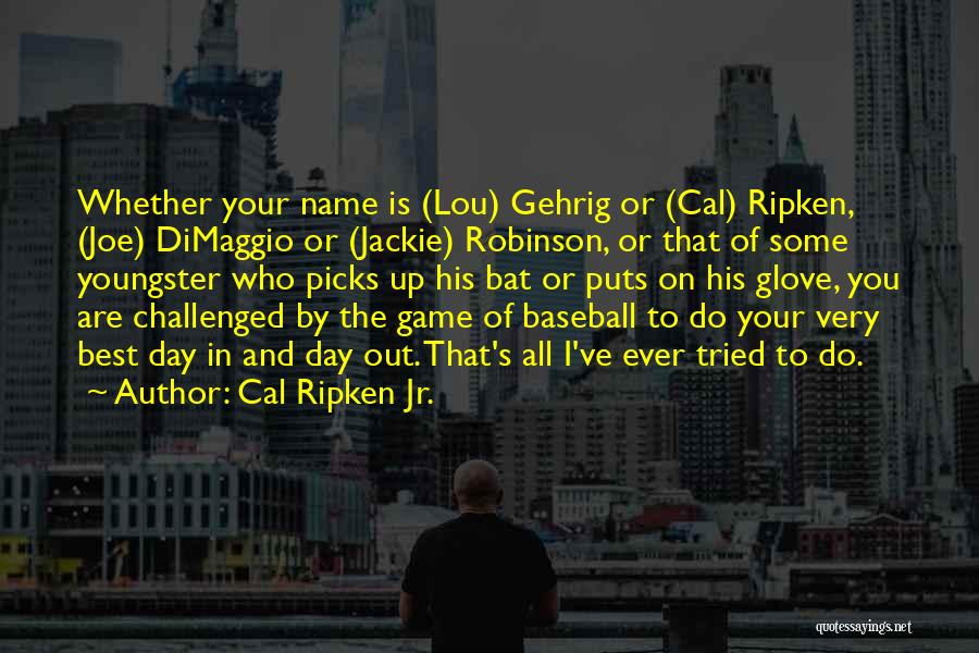 Youngster Quotes By Cal Ripken Jr.