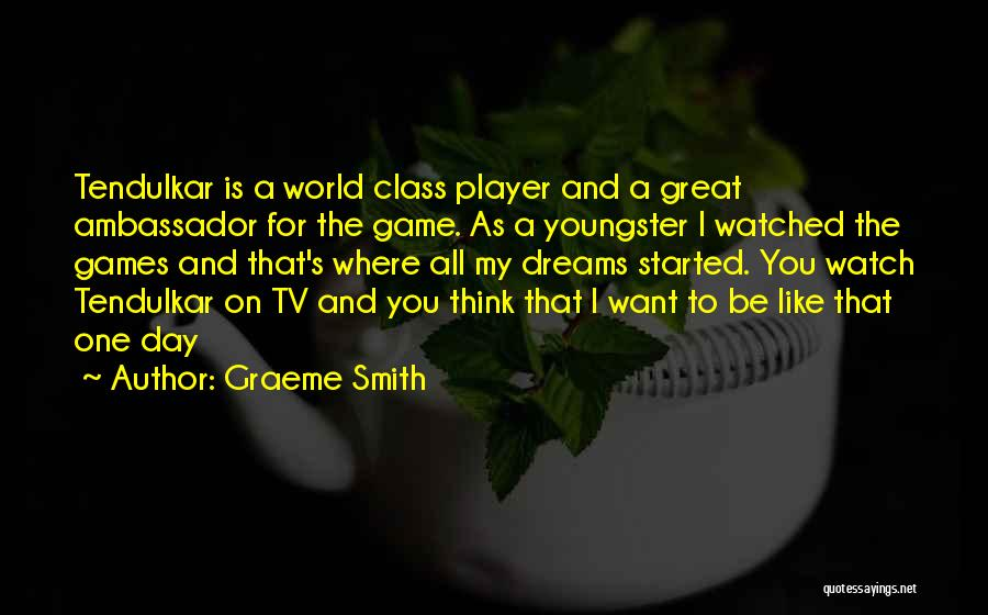 Youngster Quotes By Graeme Smith