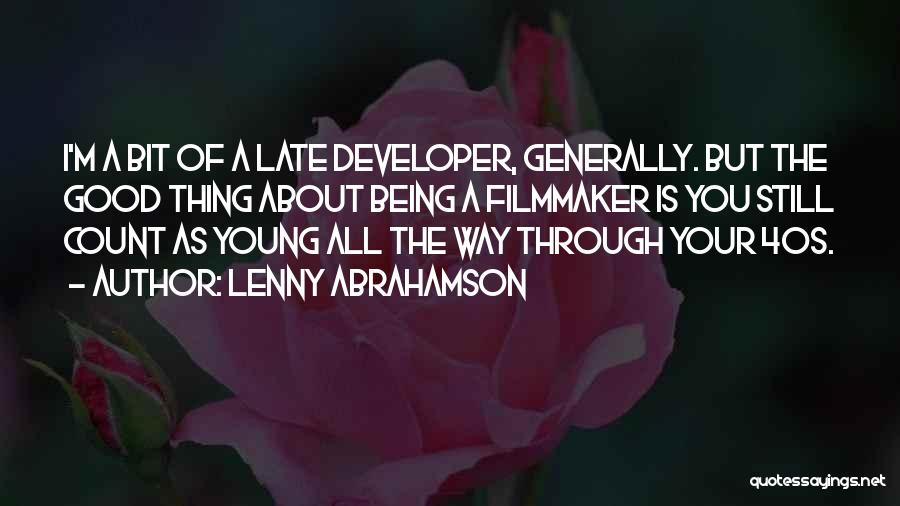 Your 40s Quotes By Lenny Abrahamson