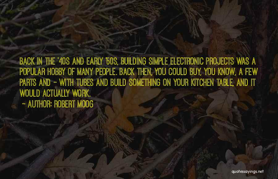 Your 40s Quotes By Robert Moog