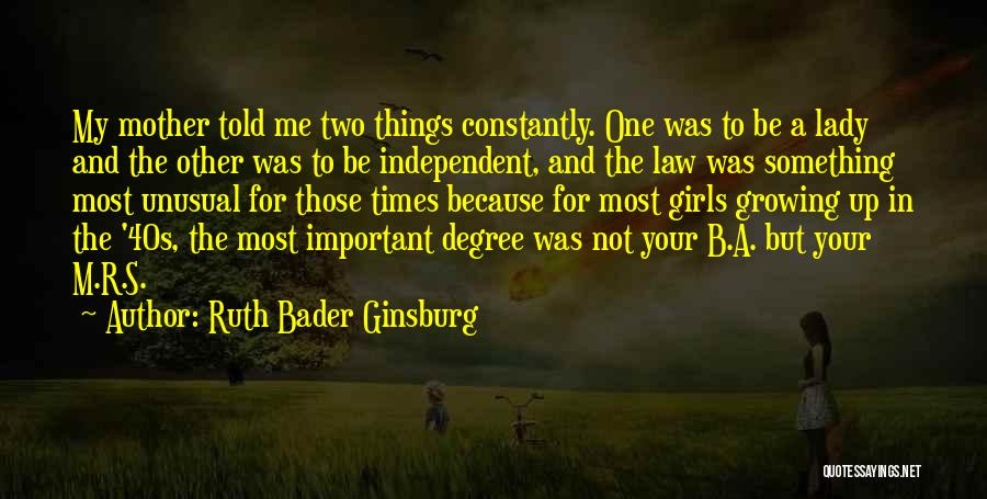 Your 40s Quotes By Ruth Bader Ginsburg