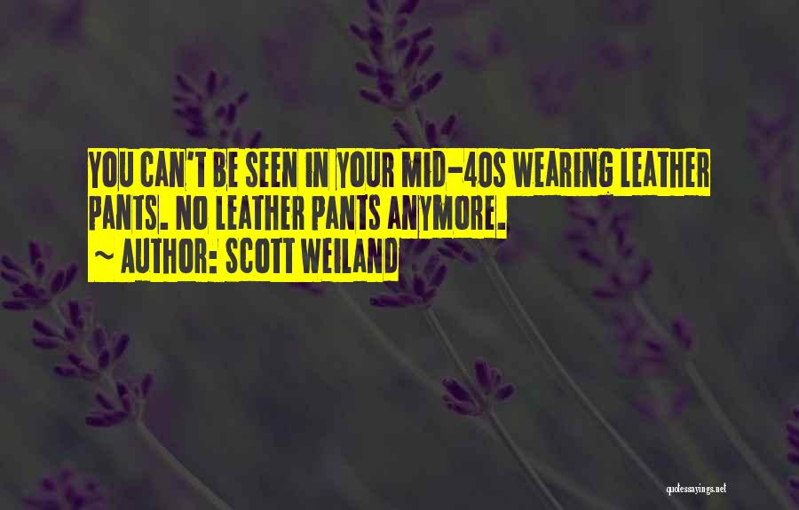 Your 40s Quotes By Scott Weiland