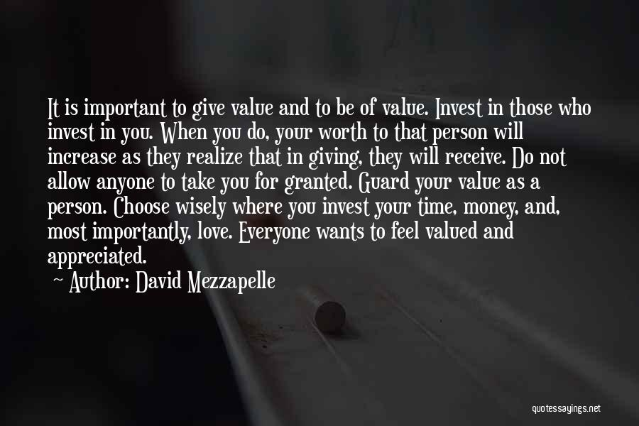Your Appreciated Quotes By David Mezzapelle