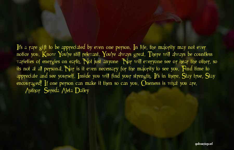 Your Appreciated Quotes By Sereda Aleta Dailey