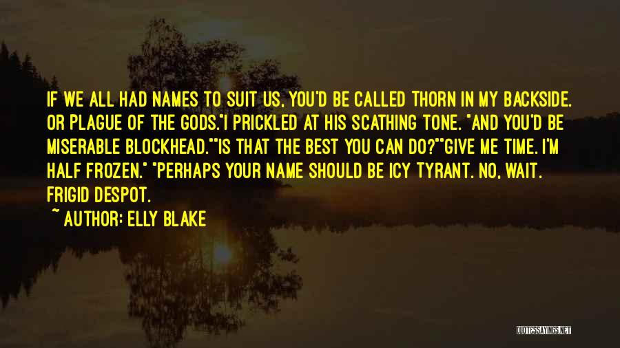 Your Backside Quotes By Elly Blake