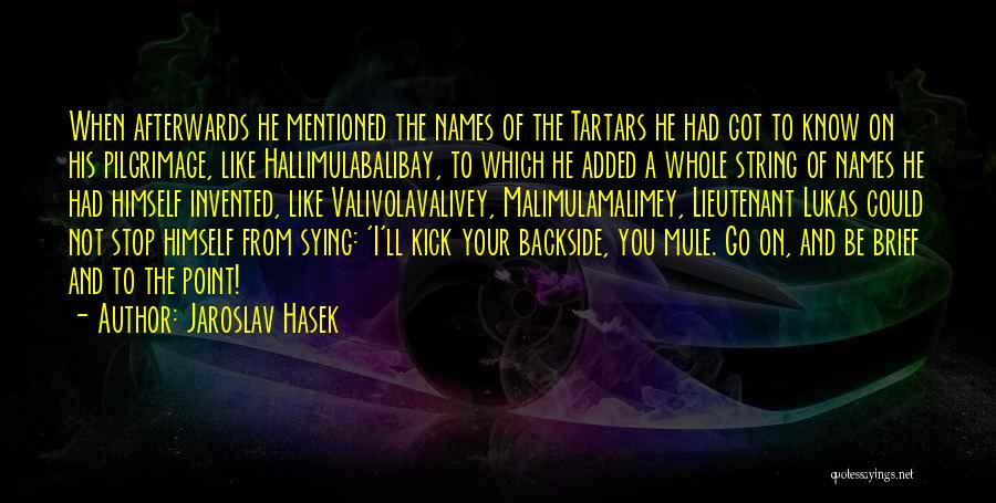 Your Backside Quotes By Jaroslav Hasek