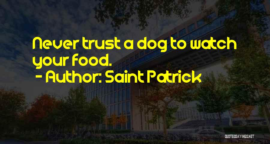 Your Dog Quotes By Saint Patrick