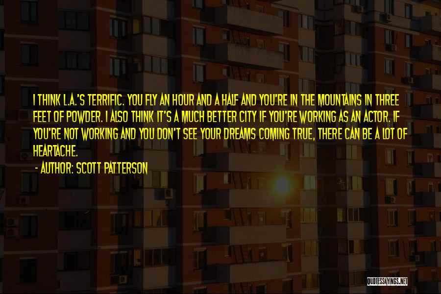 Your Dreams Coming True Quotes By Scott Patterson
