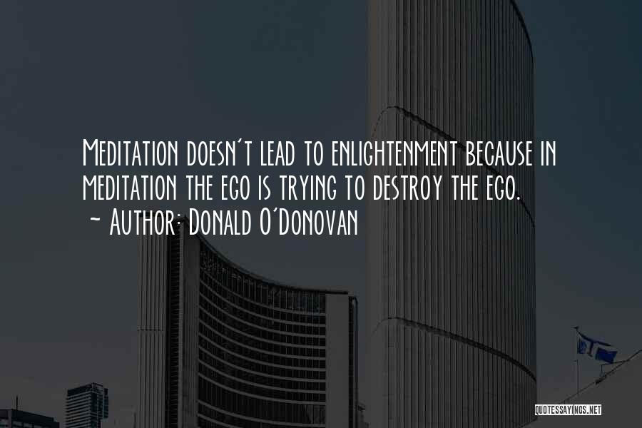 Your Ego Will Destroy You Quotes By Donald O'Donovan