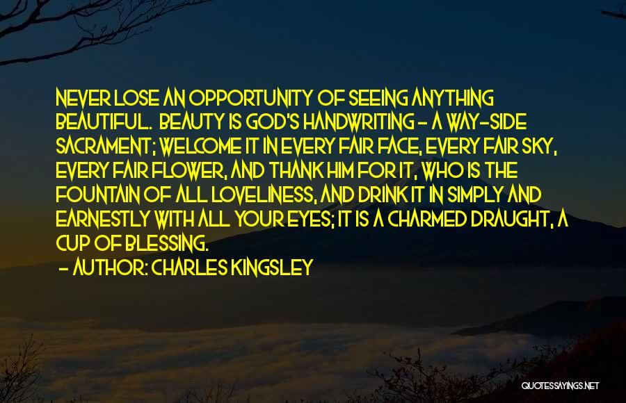 Your Eyes Beauty Quotes By Charles Kingsley