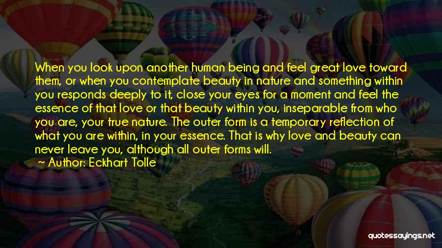 Your Eyes Beauty Quotes By Eckhart Tolle