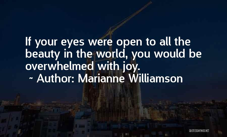 Your Eyes Beauty Quotes By Marianne Williamson