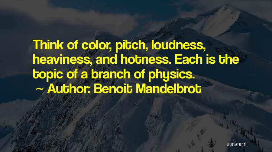 Your Hotness Quotes By Benoit Mandelbrot