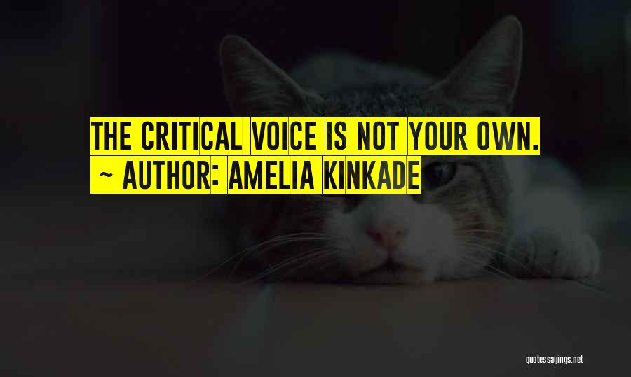 Your Inner Voice Quotes By Amelia Kinkade