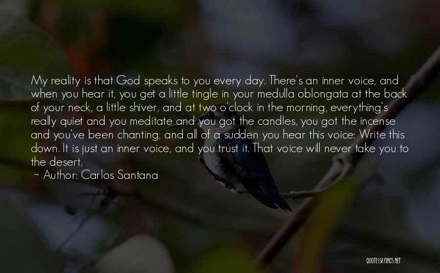 Your Inner Voice Quotes By Carlos Santana