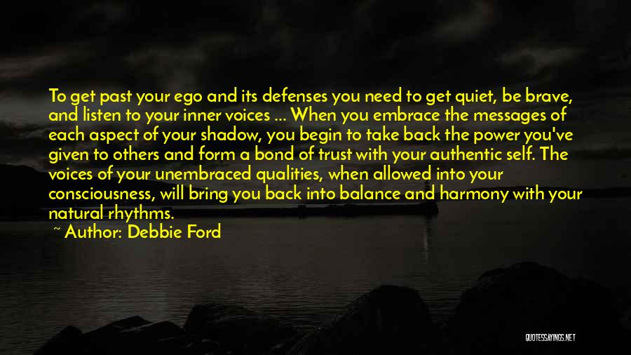 Your Inner Voice Quotes By Debbie Ford